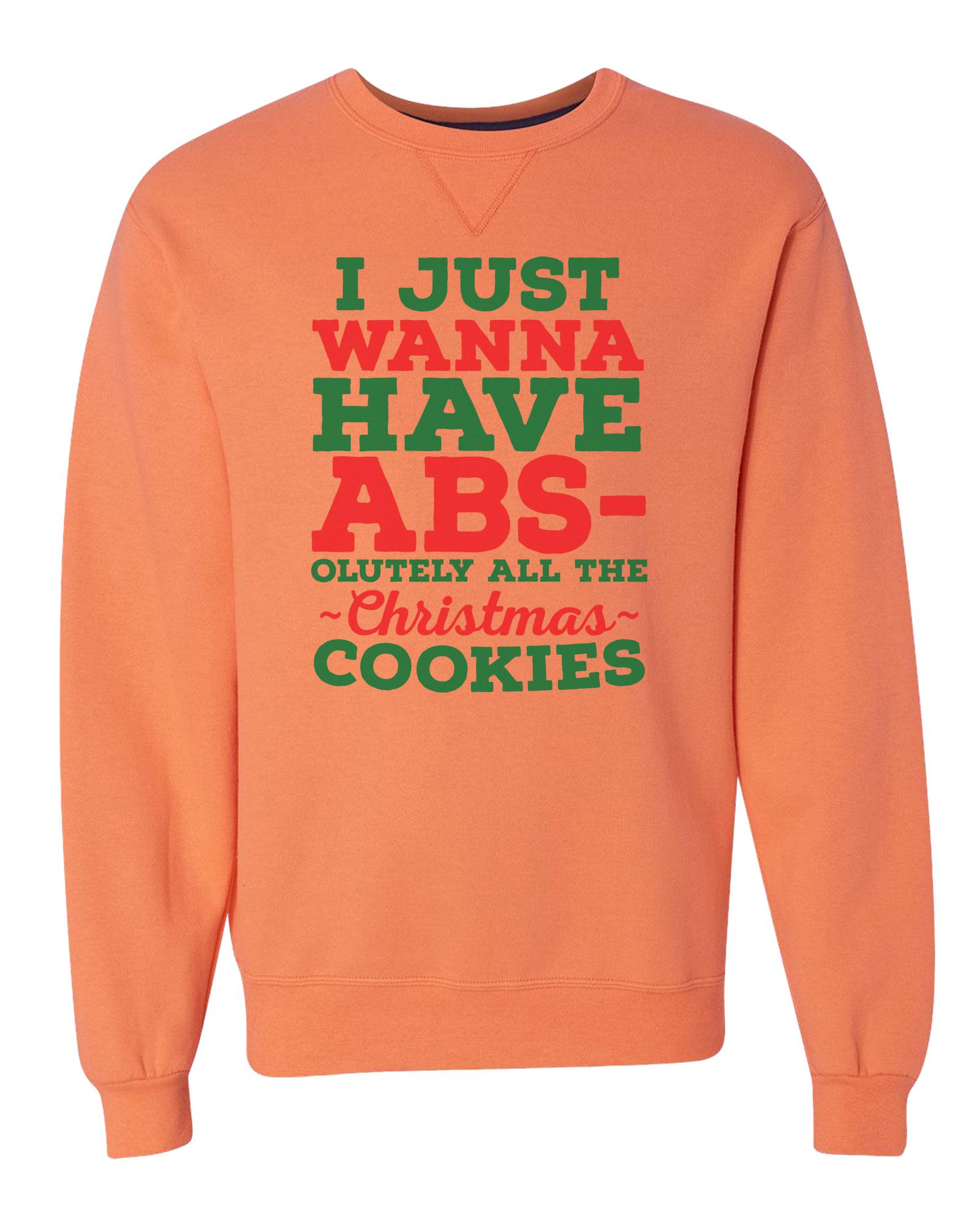 "Unisex Soft Sweatshirt ""I Just Wanna Have Absolutely..."" - Christmas Gift X-Large, Gray"