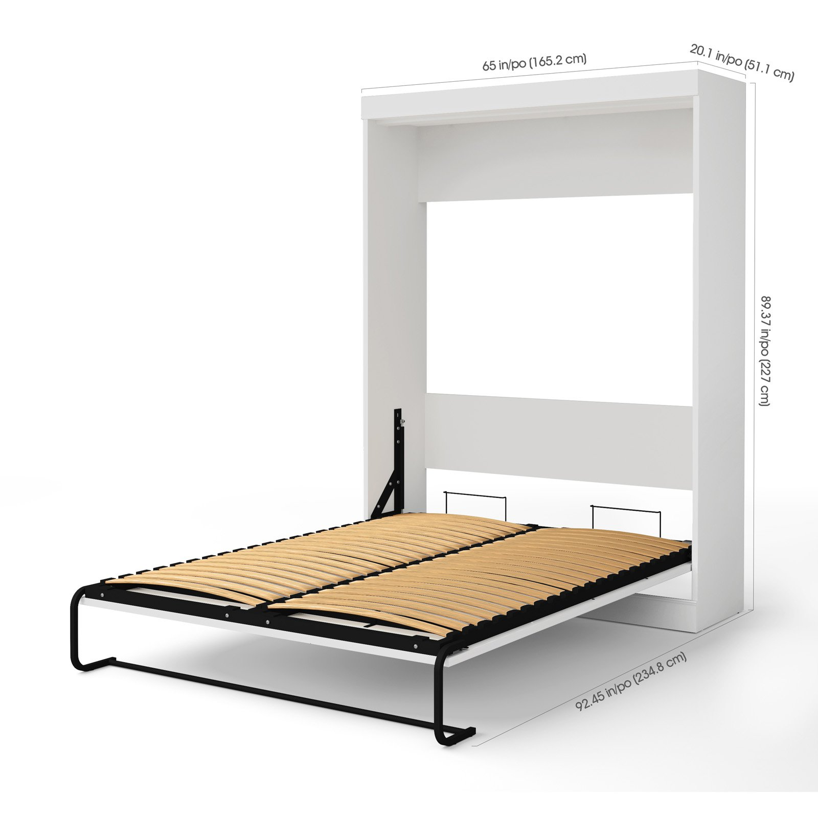 Bestar Edge Murphy Bed with 2 Storage Units - Queen