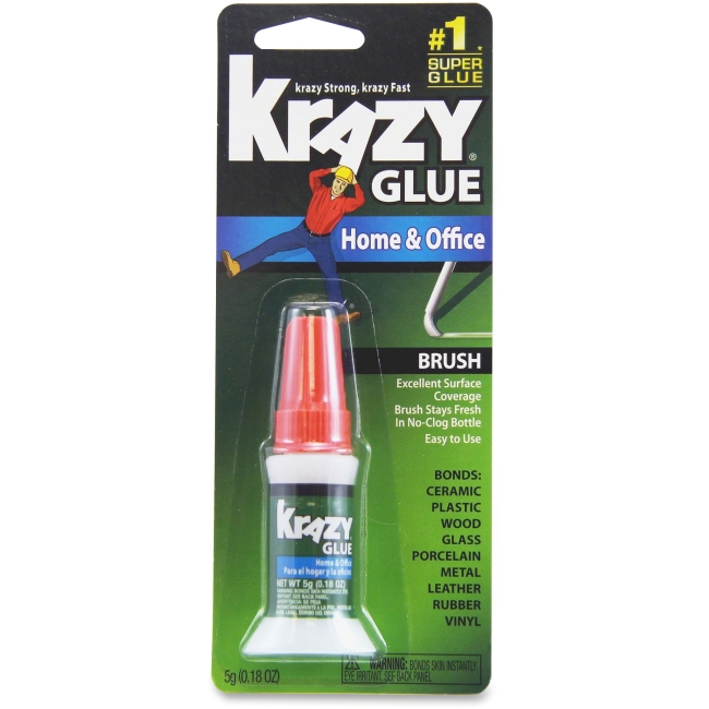 Elmer's Color Change Formula Instant Krazy Glue - 0.18 oz - Plastic, Metal, Wood, Rubber, Vinyl, Leather - 1 Each - Clear