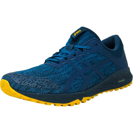 Asics Men's Alpine Xt Turkish Tile / Ink Blue Lemon Curry Ankle-High Mesh Running - 14M (Nike Running Shoes Man)