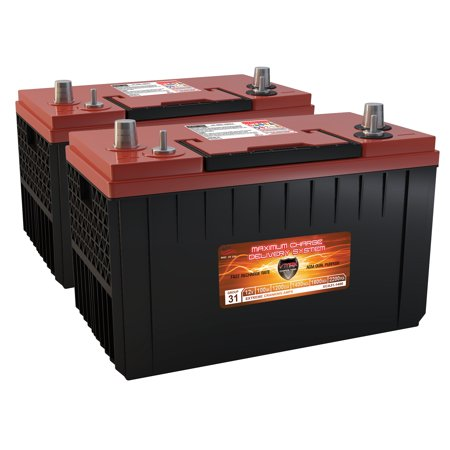 QTY2 XCA31-1400 AGM Mitsubishi Fuso Group 31 Gas Diesel Semi Truck Bus repl Battery ()