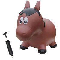 Farm Hoppers FHA1201 Inflatable Toddler Safe Bouncing Horse Brown