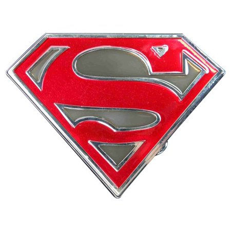 Superman cut out shield logo (Grey) Novelty Belt Buckle