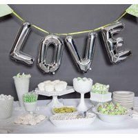 "Efavormart Silver 16"" tall Alphabet Letters / Number Foil Balloons  Party  Decorations Graduation New Year Eve Party Supplies"