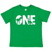 1st Birthday Shirt for Boys Dinosaur 1 Year Old Boy Birthday Boy Dino One T-Shirt Kids Gift Green Small
