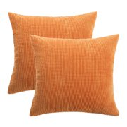 Unique Bargains 2pcs Decorative Cushion Covers Corn Stripe Decoration Throw Pillow Case Cover Shell for Sofa