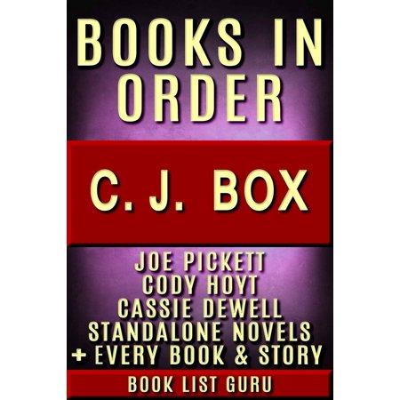 CJ Box Books in Order: Joe Pickett series, Joe Pickett short stories, Cody Hoyt series, all short stories, and standalone novels, plus a CJ Box biography. - - Order Boxes Online