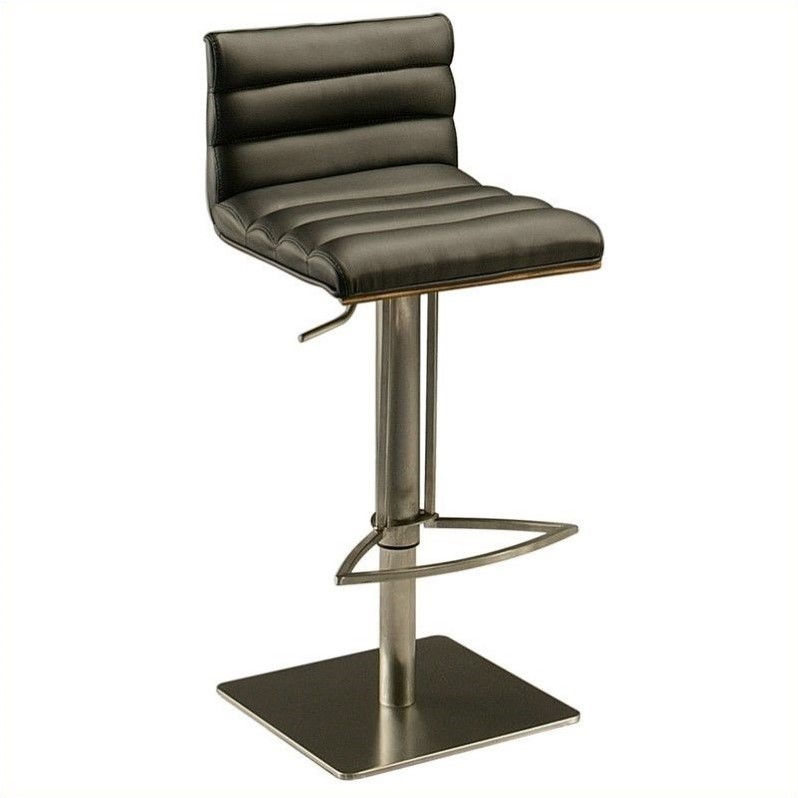 "Pastel Furniture Dubai 32.25"" Hydraulic Bar Stool in Black by Impacterra"