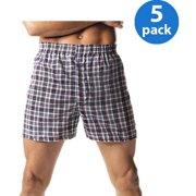 Hanes Big Men's FreshIQ Comfort Flex Waistband Tartan Boxer 5-Pack