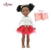 "Glitter Girls Doll Clothes by Emily Rose 14 Inch Doll Clothes for Wellie Wishers | Gift Boxed - 4 piece Doll Holiday Tutu Outfit, Including Shoes! | Fits 14"" American Girl Wellie Wisher Dolls 