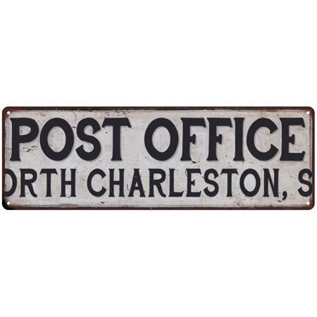 NORTH CHARLESTON, SC POST OFFICE Vintage Look Metal Sign Chic Retro 6182335 for $<!---->