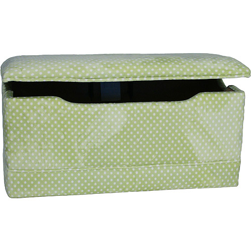 Komfy Kings Kids Classic Deluxe Toy Box - Sage Dots Polyester