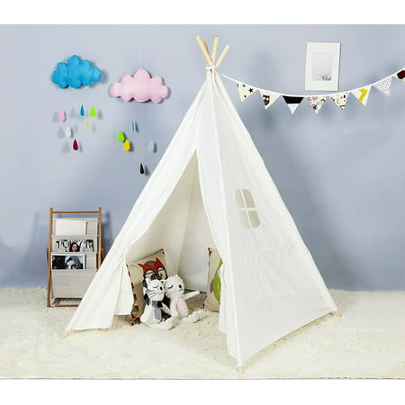 Outdoor and Indoor Great Canvas Indian Teepee Playhouse for Kids,