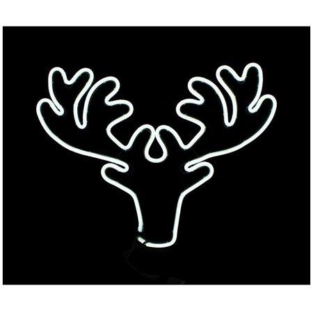 Christmas Reindeer Silhouette.Celebrations 2ts04914 Christmas Reindeer Head Silhouette 24 W
