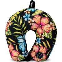 Maui and Sons Extra Soft Microbeads Neck Pillow, Supportive Comfort (Hawaiian Flowers)