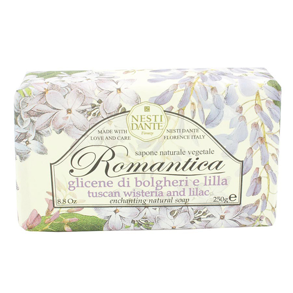 Nesti Dante Romantica The Magic of Flowers Tuscan Wisteria & Lilic Soap 8.8oz