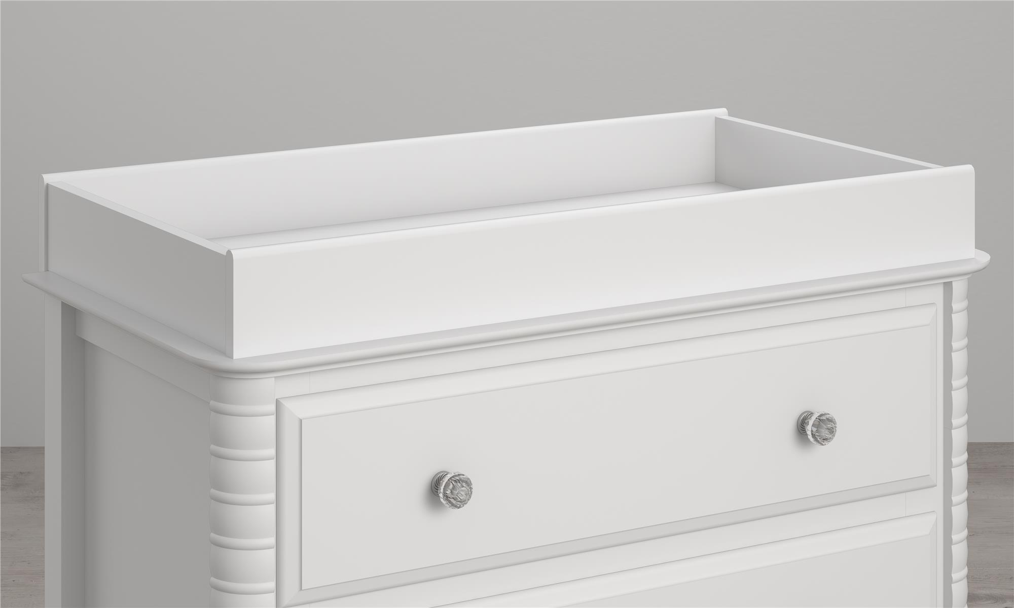 Little Seeds Rowan Valley Changing Table Topper, Painted White by Little Seeds
