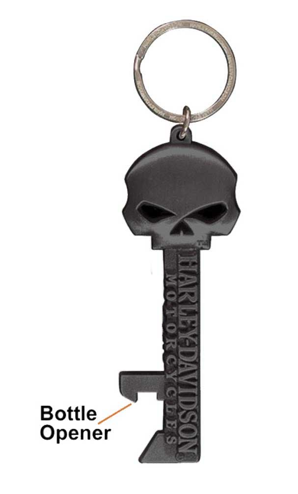 willie g skull skeleton key bottle opener key chain ky12406 harley davidson - Key Bottle Opener