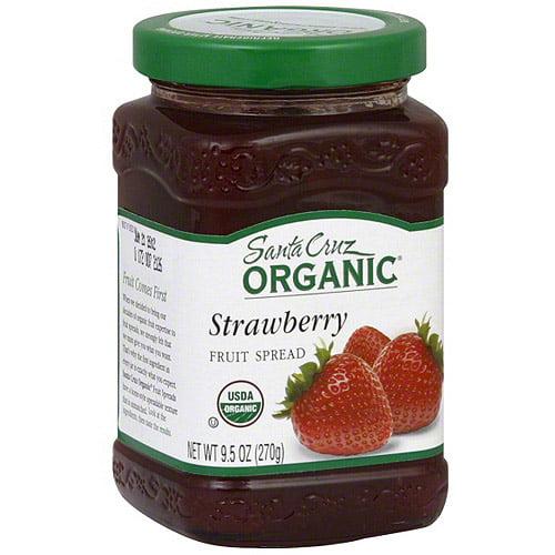 ***Discontinued by KEHE***Santa Cruz Strawberry Fruit Spread, 9.5 oz (Pack of 6)