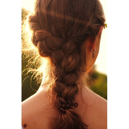 Canvas Print Plait Woven Hairstyle Hair Stretched Canvas 10 x