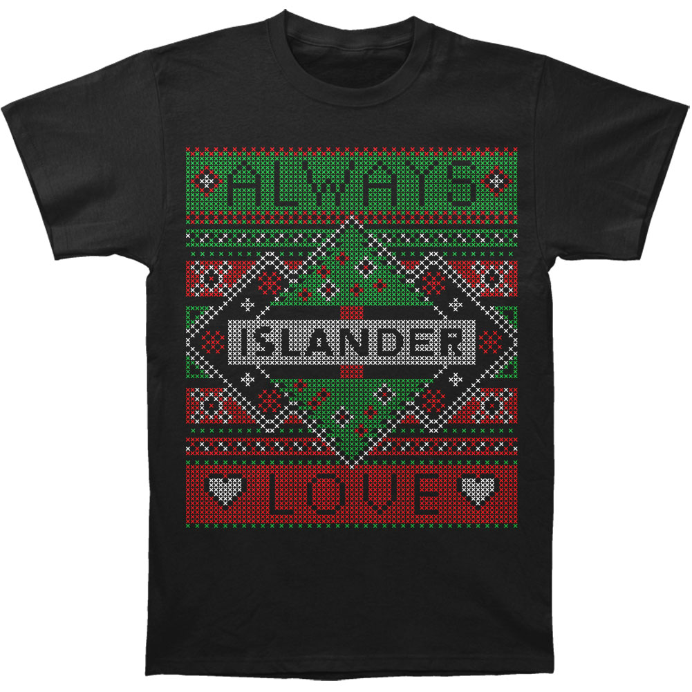 Islander Men's  2014 Holiday Design T-shirt Black