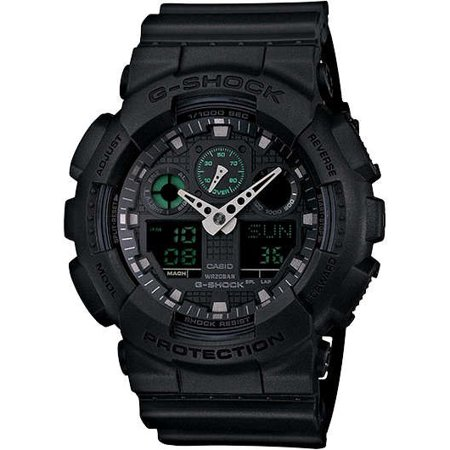 G-shock Stopwatch - Casio G-Shock Military Black GA100MB-1A 3-Eye Ana-Digi Wristwatch
