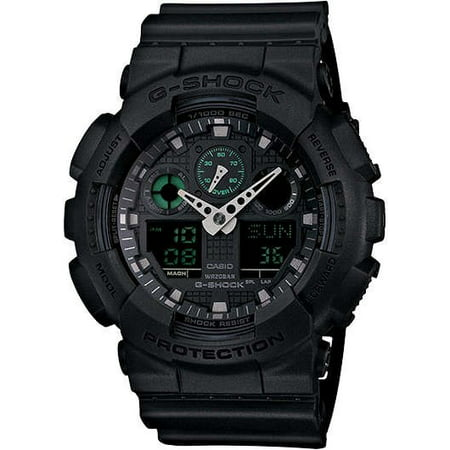 Military White Wrist Watch (G-Shock Military Black GA100MB-1A 3-Eye Ana-Digi)