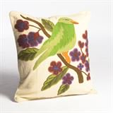 Abigails Crewel Embroidery Pillow with Bird