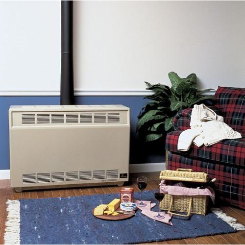 """Empire Gas Fired Room Heater, NG, BtuH Output 24,500, 4"""" Vent, Width 37"""", Height 26"""", Depth 18-3/8"""" - RH35NAT"""