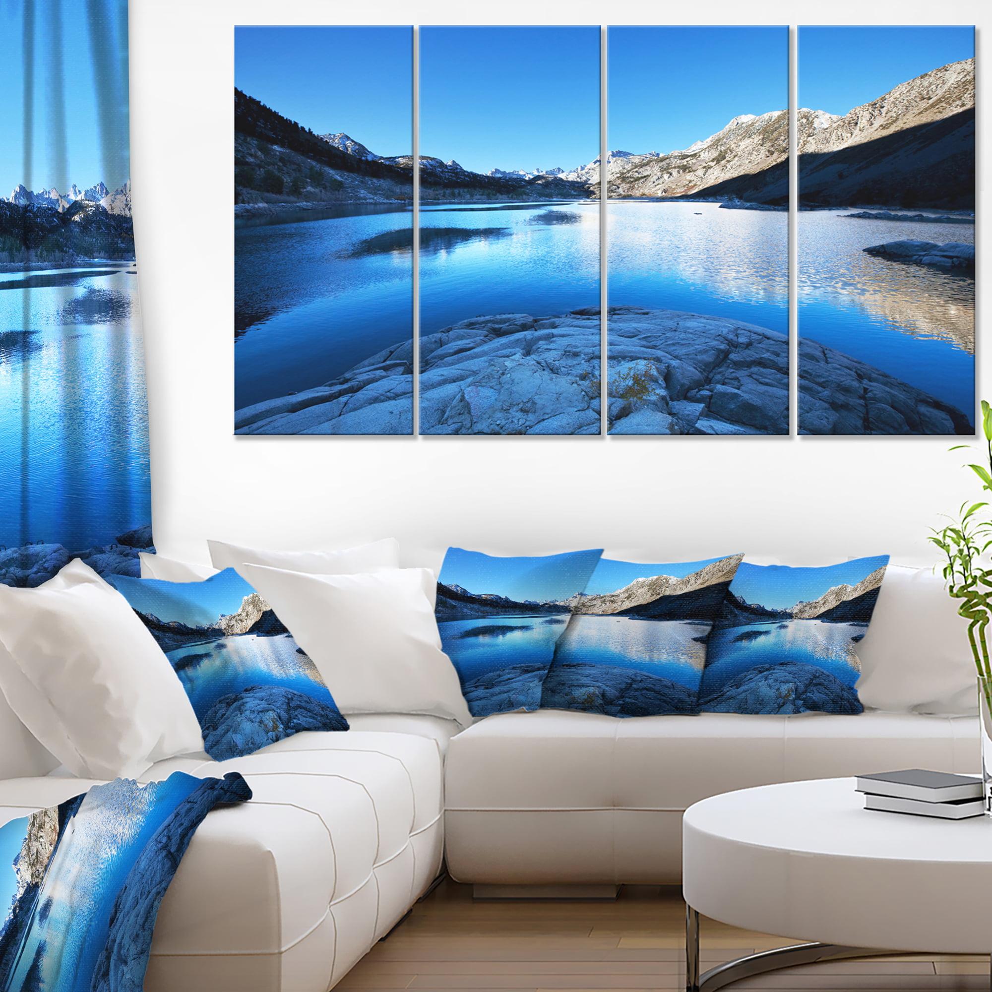 Amazing Blue Mountains Lake - Modern Landscape Canvas Art
