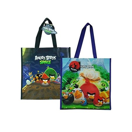Angry Birds with Space Non Woven Tote Bag 2 Assorted 13.5 x 14 x (Angry Birds Space Softee Dough For Sale)