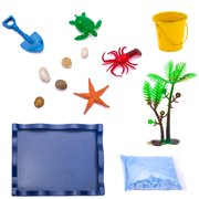 Tuscom Deluxe Wooden Mini Zen Beach Sandbox For Meditation And Relaxation