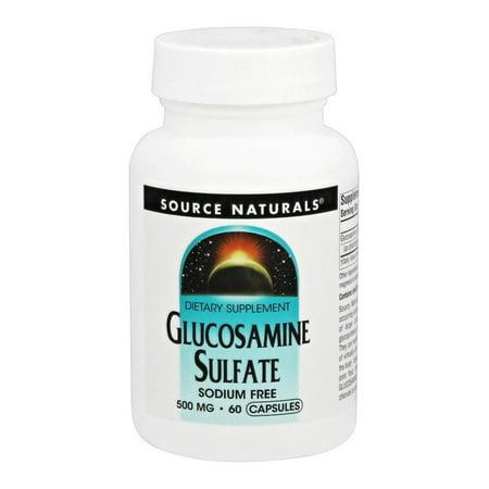 Source Naturals - Glucosamine Sulfate 500 mg. - 60 Capsules