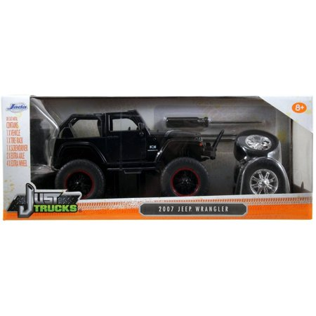 Just Trucks 1 24 Diecast W14 2007 Jeep Wrangler Off Road  Primer Black