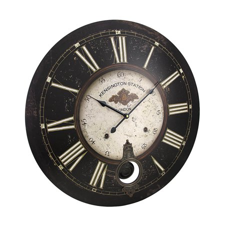 23 Inch Diameter Kensington Station Pendulum Wall Clock - image 3 de 3