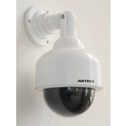 Outdoor Fake Security Camera Dome with Blinking Light