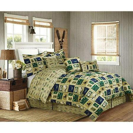 Cabin Fishing Hunting Lake House Ducks King Comforter Set ...