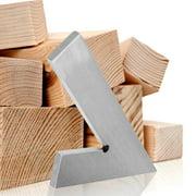 YLSHRF Woodworking Tool, Manual Measuring Tool,45 Degree Miter Angle Corner Ruler Wide Base Gauge Woodworking Measuring Tool 150x100mm