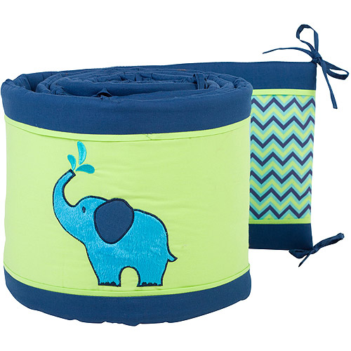 Pam Grace Creations Simply ZigZag Elephant Crib Bumper