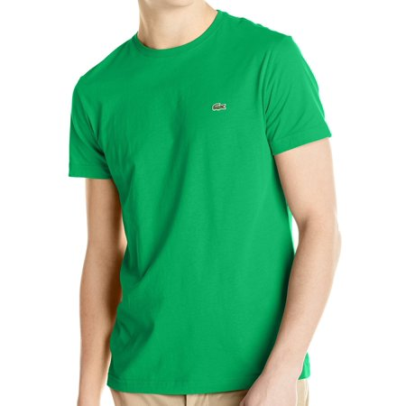 Pima Crewneck Tee - Lacoste NEW Green Mens Size Large L (5) Crewneck Croc Pima Tee T-Shirt