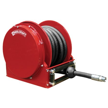 Reelcraft Sd13035 Olp 3 4  X 35 Ft Spring Retract Compact Air Water Reel W  Hose