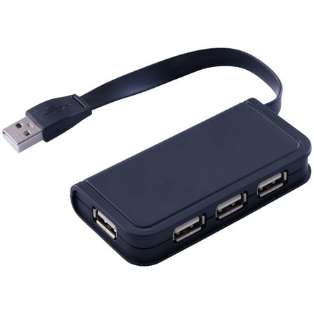 Onn High-Speed Transmission 4-Port 2.0 Technology Usb Hub, Black (Ethernet Connected Usb Hub)