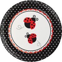 """Party Creations Ladybug Fancy Banquet Plate, 10"""", 8 Ct"""