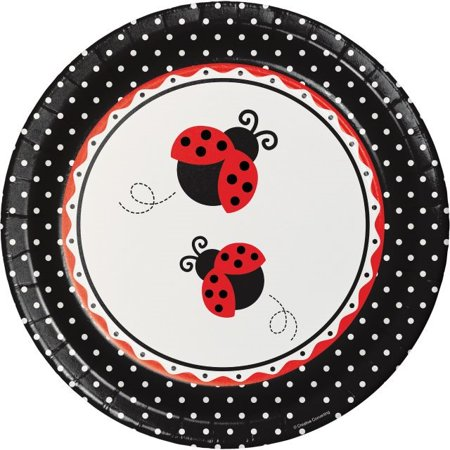 Party Creations Ladybug Fancy Banquet Plate, 10
