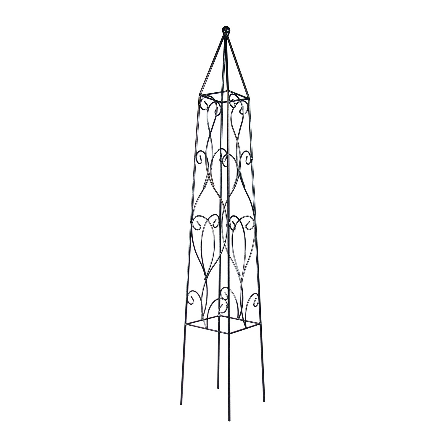 "Border Concepts 72862 Solid Steel Wisteria Obelisk, Black, 36"" by Obelisks"