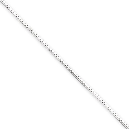 Jewelryweb Sterling Silver Box - 0.7mm, Sterling Silver Mirror Box Chain Necklace, 24 Inch