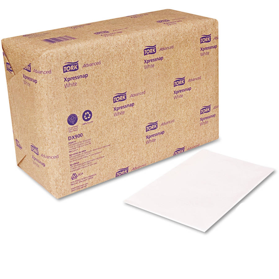 Tork White Interfold Dispenser Napkins, 6000 ct