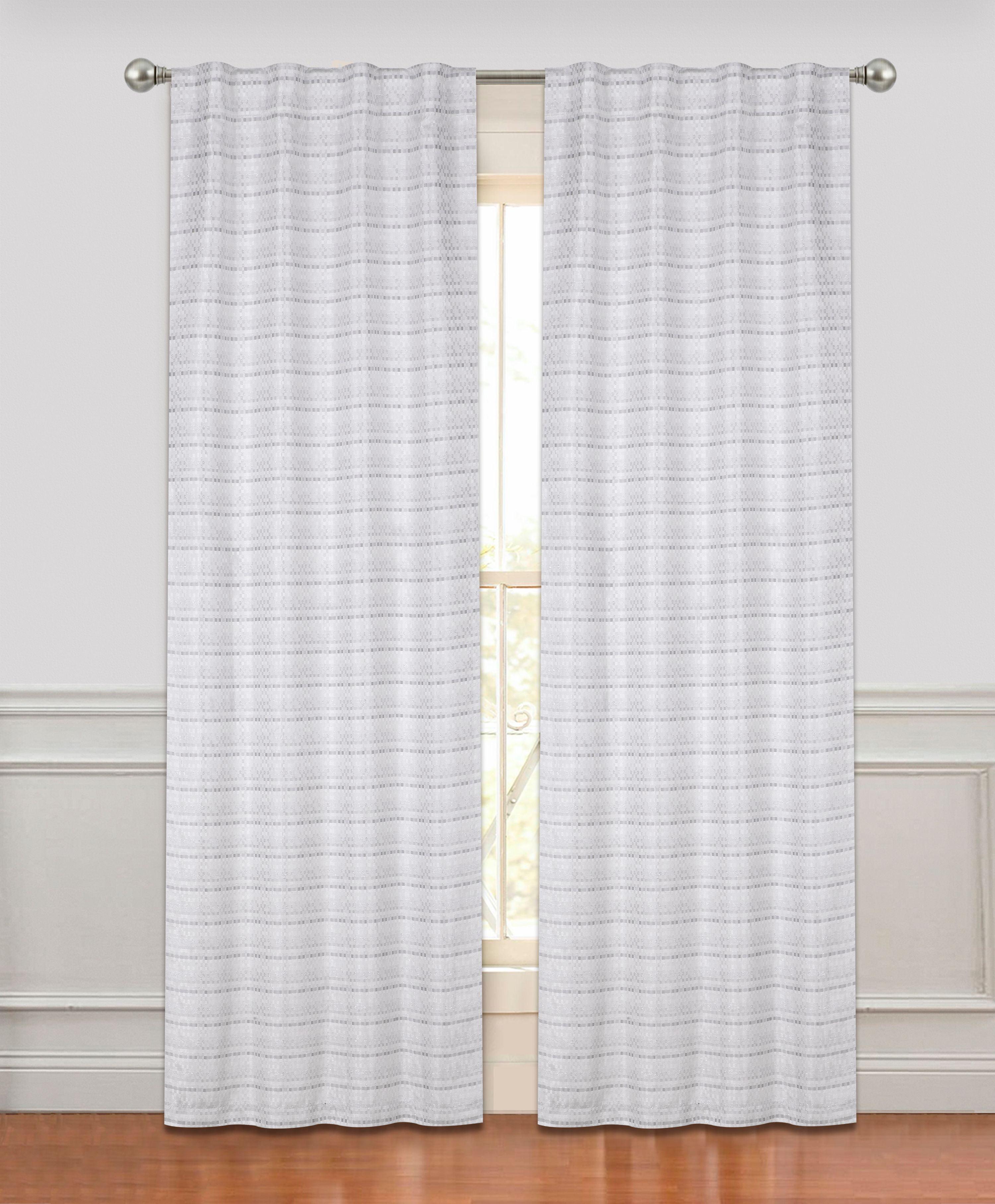 Dainty Home Rodeo Room Darkening Rod Pocket Window Curtain Panel Pair Walmart Com Walmart Com