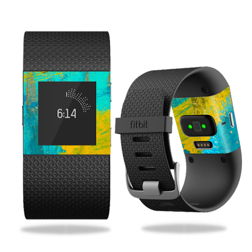 MightySkins Skin for Fitbit Charge 3 - Abstract Black | Protective, Durable, and Unique Vinyl Decal wrap cover | Easy To Apply, Remove, and Change Styles | Made in the USA
