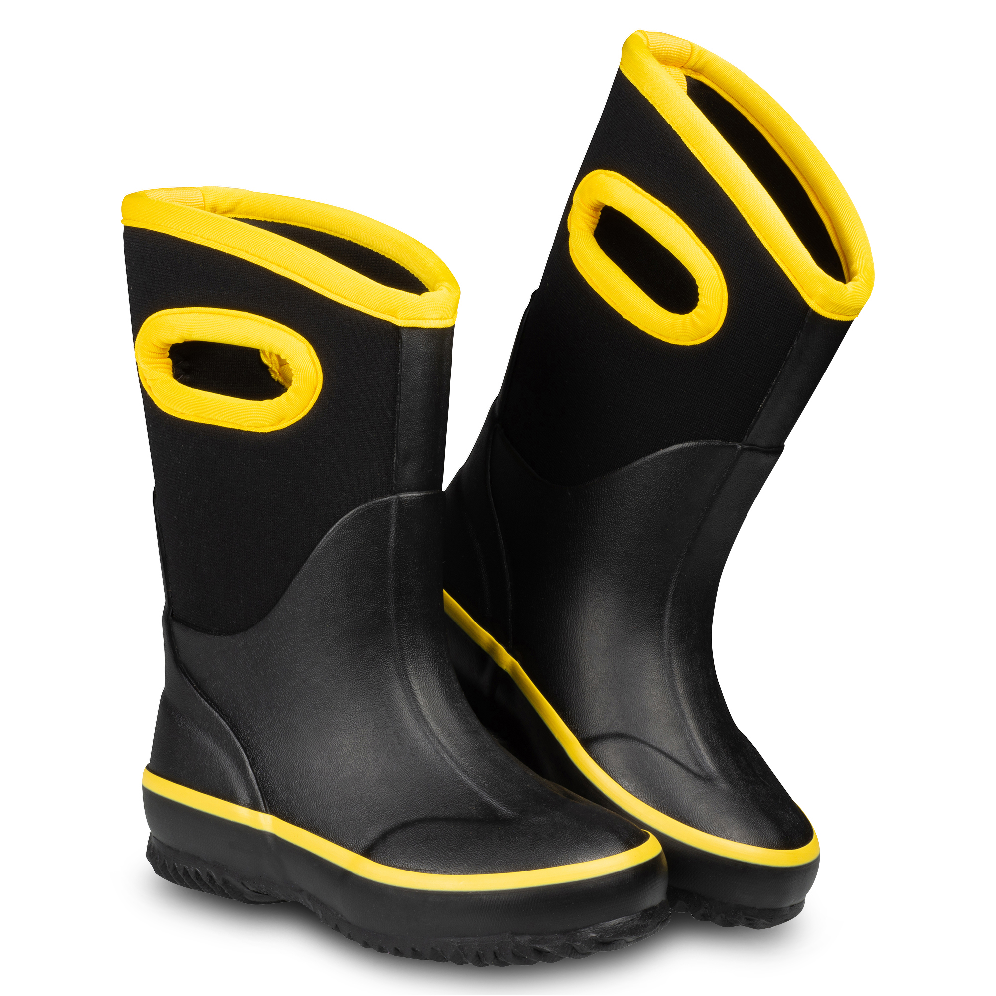 Boys ZOOGS Kids Waterproof Rain Boots for Girls and Toddlers Black
